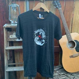 "Custom ""otter"" space American apparel shirt."